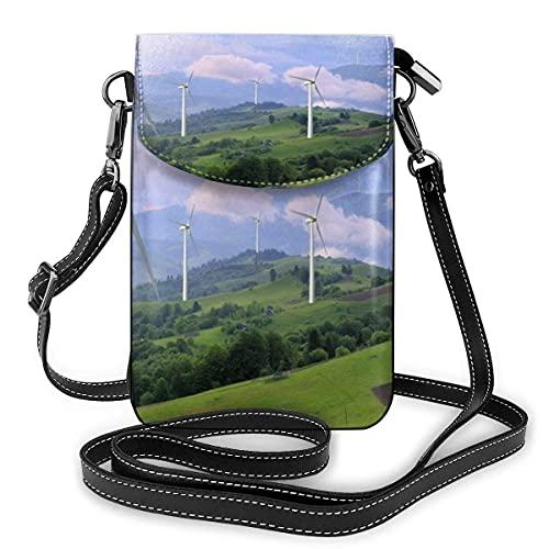 Turbinas de viento de energía ecológica que generan electricidad, bandolera, bolso para...