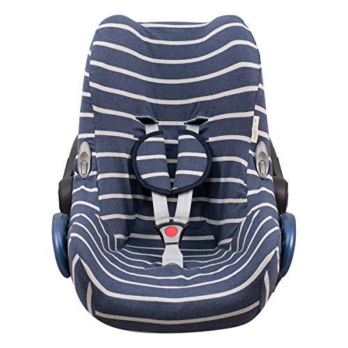 JANABEBE Funda para Maxi Cosi Cabriofix, silla de coche gr 0 (Sailor Stripes)