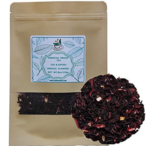 Hibiscus Tea Loose Leaf Bulk – 8 oz Hibiscus Tea - Hibiscus Tea Loose Leaf - Hibiscus Tea Bulk - Hibiscus Flowers - Jamaica Flowers - Hibiscus Flower Tea - Dried Hibiscus Flowers - Caffeine Free