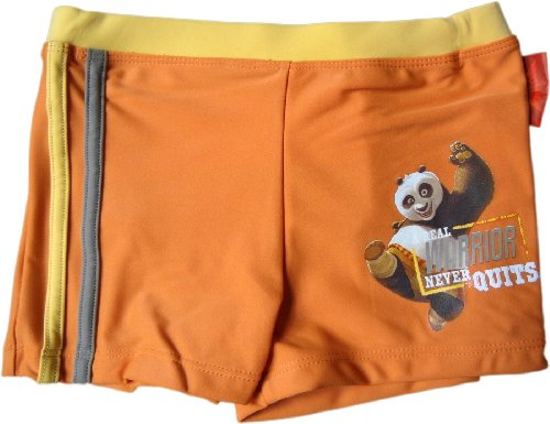Kung Fu Panda Badehose, A real Warrior Never Quits, Orange