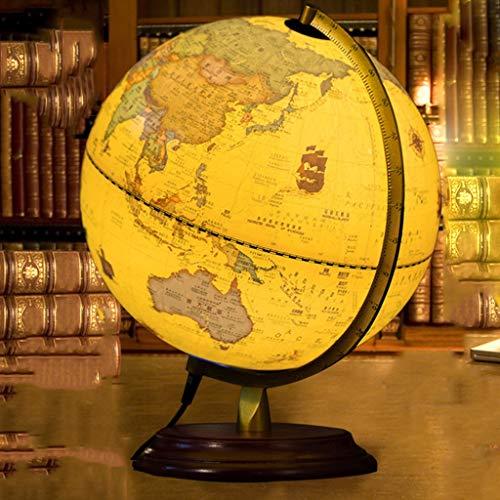 Desktop Globus HJCA hoge kwaliteit houten bal student HD Home Office Decoratie Decoratie Complexe antieke creatief kan tafellamp niet verbleken Grootte: 30 * 25 cm Leergerei, kantoor decoratie