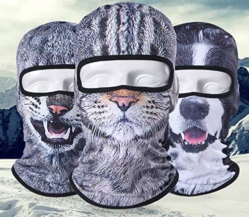 Hpybest Motorfiets Volledige Gezicht Masker 3D Dier Kat Hond Helm Winddicht Ademend Airsoft Paintball Snowboard Fietsen Ski