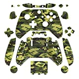 WPS Hydro Dipped Replacement Housing Shell Set for Xbox One S Slim (3.5 mm Headphone Jack) Controllers for 1708 Version (Camouflage Green)