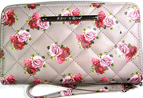 Betsey Johnson Women's Z/A Floral Wristlet/Wallet Grey/Floral