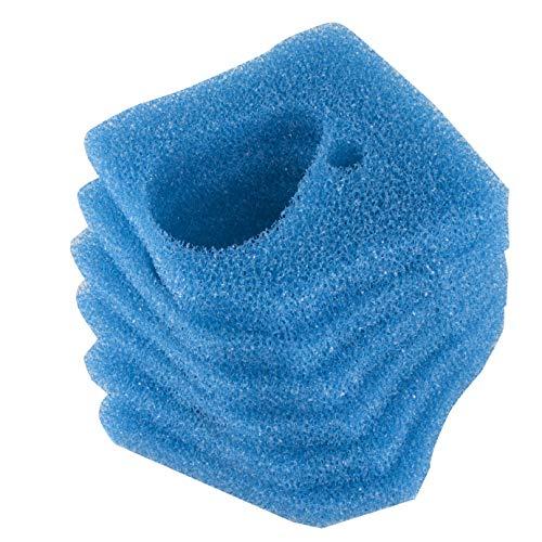 LTWHOME Blauer Rauher Filterschwamm Passend für Eheim Professional 3 250, 350, 600/2071, 2073, 2074, 2075(6 Stück)