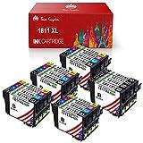 Compatibile per: Epson XP30 XP102 XP202 XP205 XP212 XP215 XP302 XP305 XP312 XP315 XP402 XP405 XP405WH XP415 XP412 XP422 XP425 XP525 Il pacchetto contiene: 8 x nero (T1811), 4 x Ciano (T1812), 4 x Magenta (T1813), 4 x giallo cartucce d'inchiostro (T18...