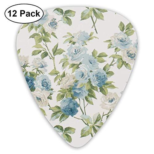 Floral Rose Flower Picks de guitarra 12 paquetes - Picks de guitarra de variedad Plectrums-92L-C9