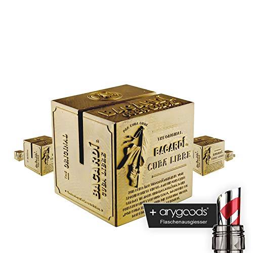 6x Bacardi Rum portatarjetas Cristal Vasos–Expositor Tarjetas de menú Soporte Expositor de folletos + Botella vertedor