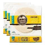 La Tortilla Factory Low Carb Flour Tortillas, 6g Net Carbs, 70 Calories, Non-GMO, Soft Taco Size - 7', 8-Count, 3 Packages