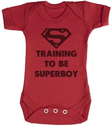 Training to Be Super Boy Body bébé - Gilet bébé - Body bébé Ensemble-Cadeau - Naissance Rouge