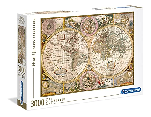 Clementoni- Mappa Antica High Quality Collection Puzzle, No Color, 3000 pezzi, 33531