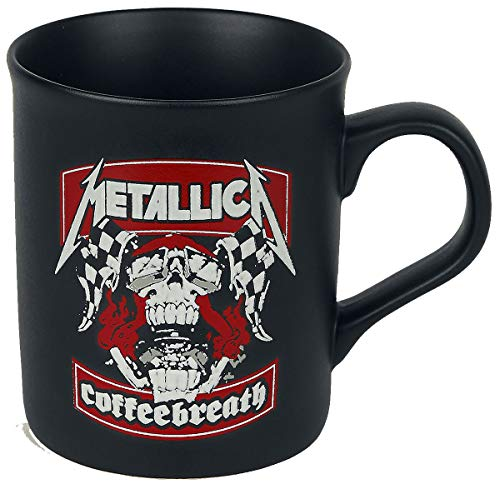 Metallica Coffeebreath Unisex Tasse mattschwarz Keramik 0,3 l Band-Merch, Bands