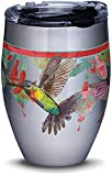 Tervis Colorful Hummingbirds Stainless Steel Insulated Tumbler with Lid, 12 oz, Silver