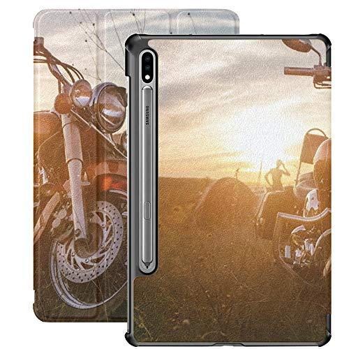 Funda para Samsung Galaxy Tab S7 / s7 Plus Coche Moto Under Sky Stand Carcasa Trasera Compatible con Samsung Galaxy Tablet Funda para Galaxy Tab S7 11 Pulgadas S7 Plus 12,4 Pulgadas