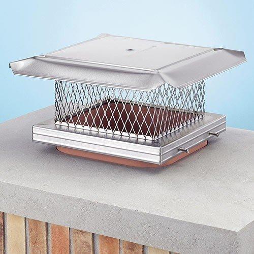 .625 Inch Mesh Chimney 14706 HomeSaver Black Chimney Cap 8 Inches x 19 Inches