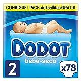 Dodot Bebé-Seco Pañales Talla 2, 78 Pañales, el unico Pañal con canales de Aire, 4 a 8 kg