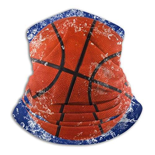 KKLDOGS Pelota de baloncesto en agua salpicando microfibra calentador de cuello bufanda para clima frío invierno deportes al aire libre bandana pasamontañas unisex