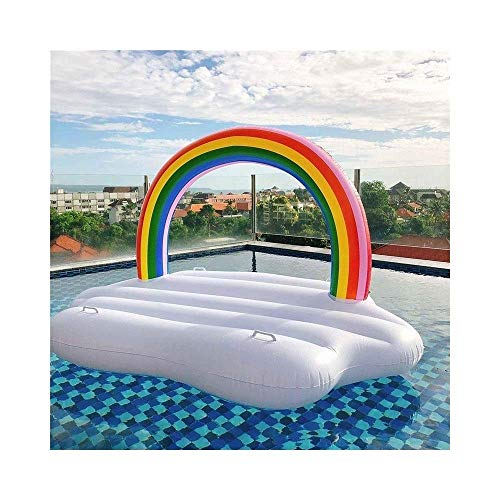Zxcv Kayak Inflable Vacaciones for Adultos y niños Pesca, Deportes al Aire Libre, Playa, Sea Rainbow Pool Toys