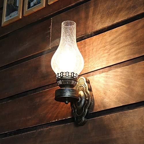 MJSM Light Wandlamp, vintage, wandlamp, antiquariat, lamp, Cherosene Café, hal, mat, oogschaduw, Epoca 12 x 42 cm
