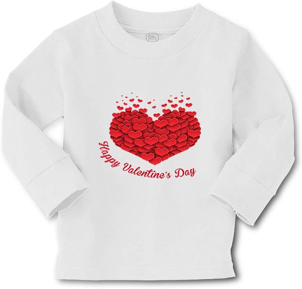 Kids Long Sleeve T Shirt Unicorn Valentine's Days Valentines Boy & Girl Clothes