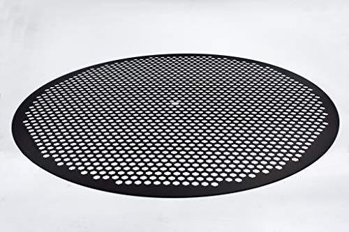 LloydPans 14 inch, Pre-Seasoned PSTK Hex Pizza Disk, Dark Gray