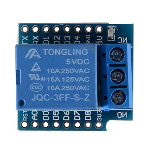 BEESCLOVER 3 x Entwicklungsplatine (5 V, WiFi-Mini-Relais-Schild für Arduino WeMos D1 TE685