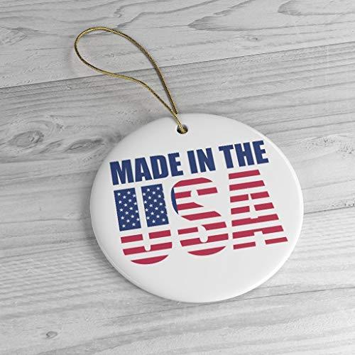 'N/A' Hecho en los Estados Unidos de América, adorno de cerámica Patriotismo Americano.