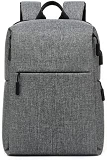 Fmdagoummzibeib Backpack, Gray, College School Computer Bag , Match Below 15.6 Inch Laptop And Notebook, With USB Charging...