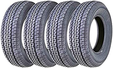 Set of 4 New Premium FREE COUNTRY Trailer Tires ST 205/75R15 8PR/Load Range D w/Scuff Guard