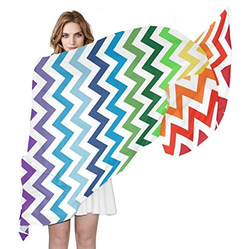LUPINZ Bunte Zickzack-Muster Leichter Schal für Damen, Schal, weiche Schals und Wraps für Abendkleider/Hawaiianischen Urlaub
