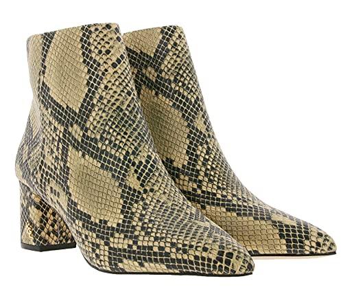 Kurt Geiger Burlington Echtleder Ankle-Boots modische Damen Stiefelette im Animal-Look Boots Ausgeh-Schuhe Braun, Größe:36