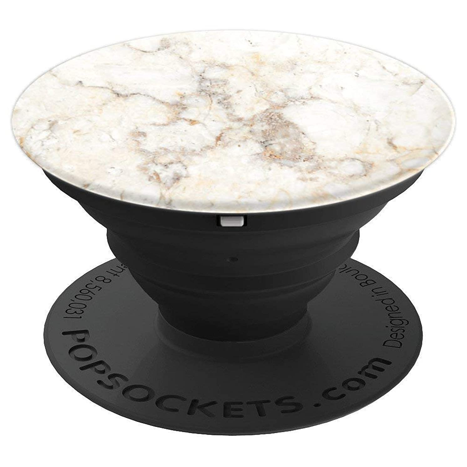 Marble Granite Stone Rock Tile Vein Deco Quartz Mineral Art - PopSockets Grip and Stand for Phones and Tablets