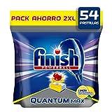 Finish Powerball Quantum Max - Pastillas para el Lavavajillas, Limón, Formato 54 Unidades