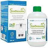 Aquali EcoDescaler - Descalcificador ecológico (1 x 500 ml) para todas las cafeteras automáticas y cafeteras espresso, 5 procesos de descalcificación