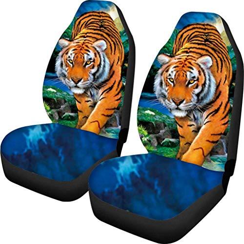 Dierlijke tijgerprint polyester duurzaam comfort auto decor zetels kussens passen SUV Sedan
