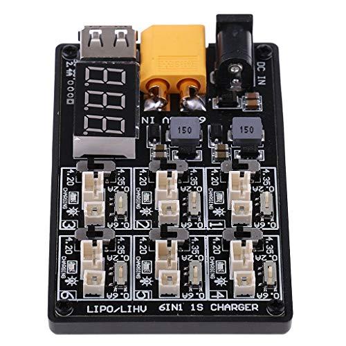 WFAANW 6 en 1 3A XT60 1,25 LiHv Lipo Cargador de batería de Carga Junta for RC Remoto Aviones no tripulados de Control