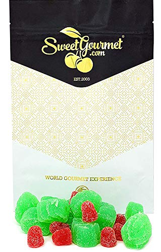 SweetGourmet Christmas Holly Berries Jelly Candy | Cinnamon Spearmint | 1 Pound