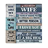 Coperta reversibile in flanella, con scritta in lingua inglese 'To My Wife', per lettera, per San...