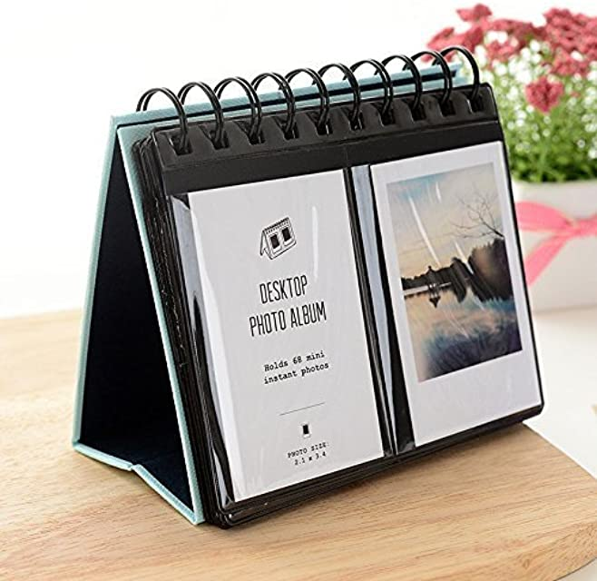 Jun cámara instantánea álbum de fotos soporte de escritorio calendario para Fujifilm Instax Polaroid foto 3 68piezas)