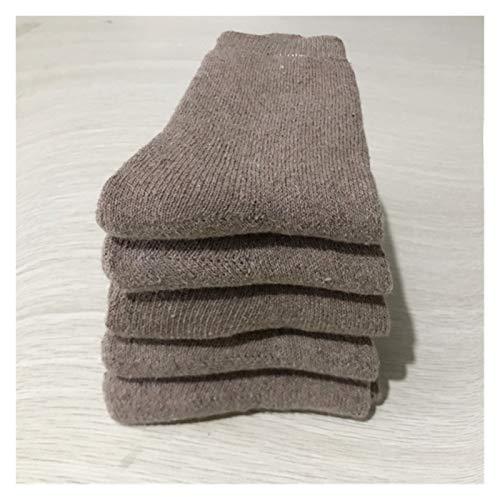 Clásico Transpirable Cómodo Calcetines de vestir 5 pares de calcetines de lana para mujeres y hombres, calcetines de invierno cálidos cálidos y gruesos de punto grueso Vintage Hiker, calcetines suaves