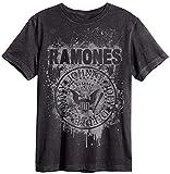Amplified - Camiseta - Logotipo - Básico - Cuello redondo - Hombre gris Small