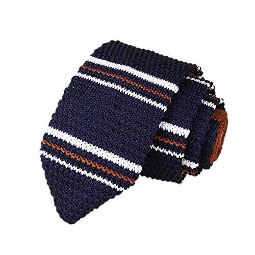 Dorical Herren Schmale Krawatte Stricken Streifen Krawatte Handgefertigte Casual/für Alle Männer das Perfekte Geschenk In Hochzeit Valentinstag Vatertag Weihnachten