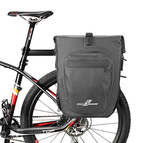 VERTAST Borsa Posteriore Bici - per rastrelliera Portapacchi da Bici, Impermeabile Portapacchi Bagagli Borse Multi Funzione Borsa per Il Viaggio in Bicicletta, Nero1