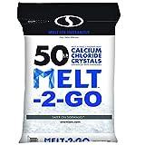 Snow Joe AZ-50-CC Melt-2-Go Resealable Bag Premium Calcium Chloride Crystal Ice Melter, 50 lb