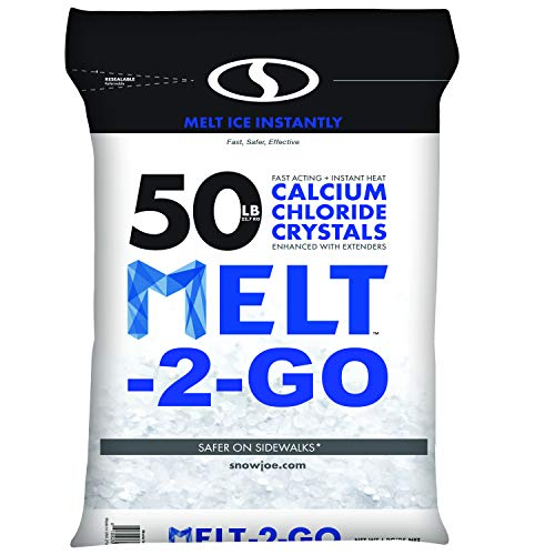 Snow Joe AZ-50-CC Melt-2-Go Resealable Bag Premium Calcium Chloride Crystal Ice Melter, 50 lb