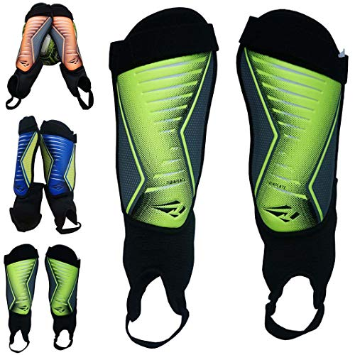 Rawxy Football Soccer Shin Guard with Ankle Protection Exceptional Flexible Soft Light...