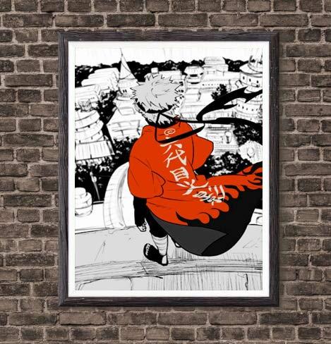 Digital Manga Anime Picture Hokage Naruto Uzaumaki Poster Canvas Art Prints,8 x 10 Inches,No Frame