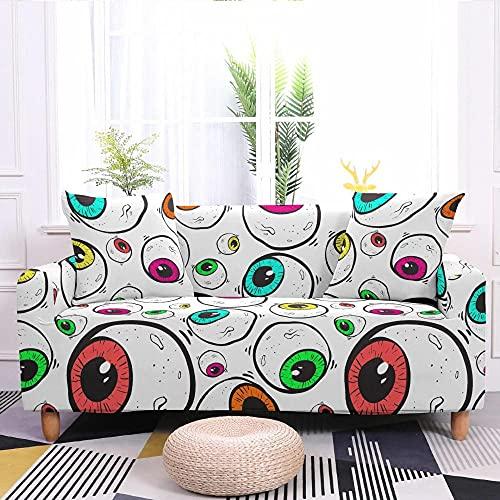 Copridivano ad Alta Elasticità Protettore di Mobili Bulbo Oculare, Bianco,Materiale In Poliestere Spandex 3 Seater:190-230cm Protegge Il divano Dagli Animali Domestici