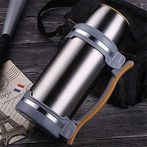 CXHMYC Große Kapazität Isolierflaschen 2L Edelstahl Thermoskanne Reise Wasserkocher Kaffeekocher Isolierter Wasserkocher