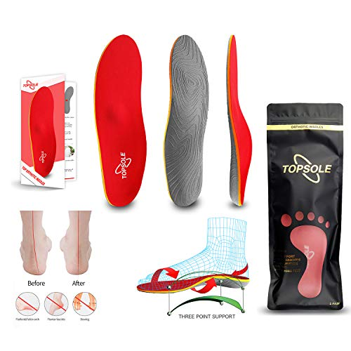 Topsole Flat Feet Metatarsal Orthotic Insoles Arch Support Full Length Inserts Metatarsal Pinnacle Plus for Metatarsalgia, Plantar Fasciitis, Heel Pain, Big Toe, Pain Forefoot Pain …